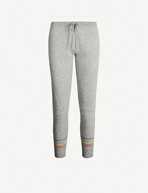 MADELEINE THOMPSON Cheshire striped-trim cashmere jogging bottoms