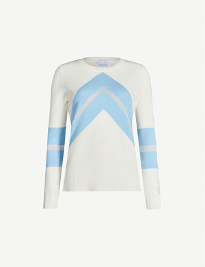 MADELEINE THOMPSON Timothy chevron-pattern cashmere jumper