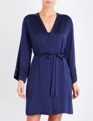 NK IMODE Morgan Iconic silk-satin and lace robe