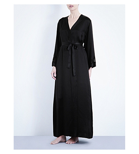 87fbda383a NK IMODE - Long silk-satin robe
