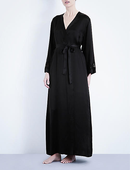 NK IMODE: Long silk-satin robe