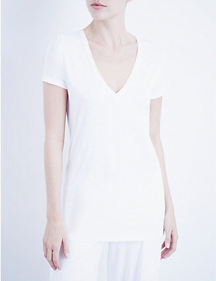 SKIN: V-neck easy pima-cotton T-shirt