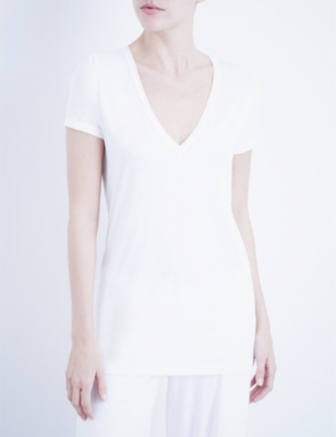 SKIN V-neck easy pima-cotton T-shirt