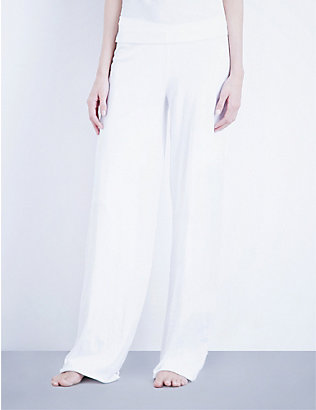 SKIN: Double-layer pima-cotton jersey pyjama bottoms
