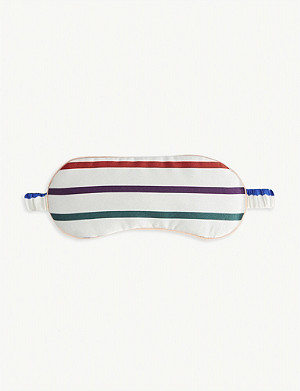 CHINTI AND PARKER Rainbow stripe silk eye mask