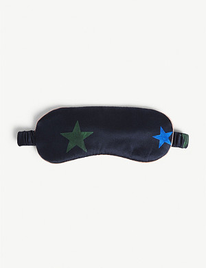 CHINTI AND PARKER Star print silk eyemask