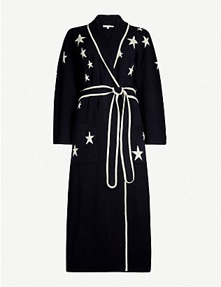 CHINTI AND PARKER: Star-intarsia cashmere dressing gown