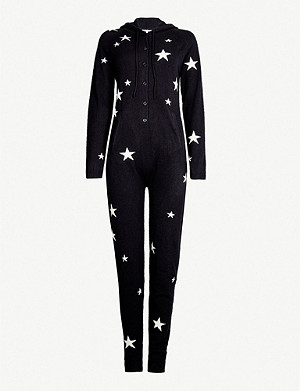 CHINTI AND PARKER Star-intarsia cashmere onesie