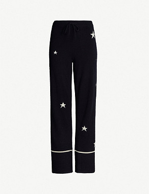 CHINTI AND PARKER Star-intarsia cashmere pyjama bottoms