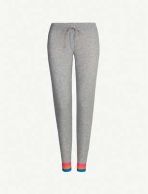 CHINTI AND PARKER Striped-cuff cashmere jogging bottoms
