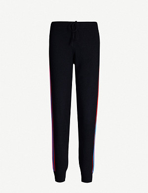 CHINTI AND PARKER Stripe-trimmed cashmere-and-wool blend jogging bottoms