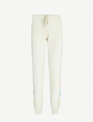 CHINTI AND PARKER Ski star-trimmed mid-rise wool-and-cashmere blend jogging bottoms