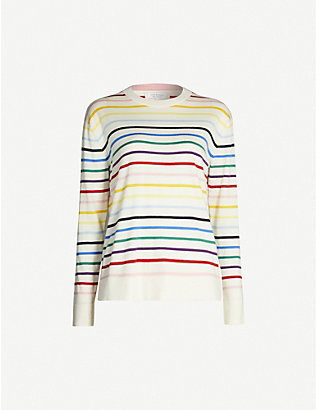 CHINTI AND PARKER: Striped cashmere jumper
