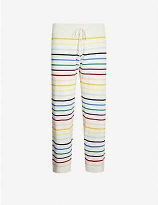 CHINTI AND PARKER: Striped cashmere pyjama bottoms