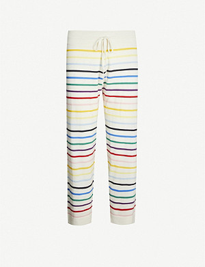 CHINTI AND PARKER Striped cashmere pyjama bottoms