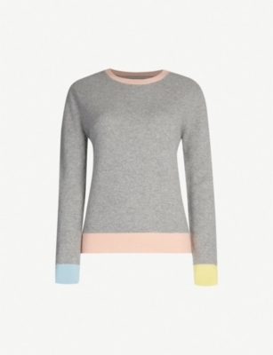 CHINTI AND PARKER Colourblocked cashmere jumper