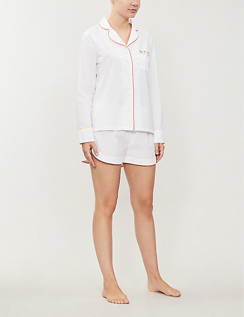 CHINTI AND PARKER Embroidered cotton pyjama set