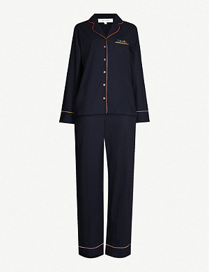 CHINTI AND PARKER Contrast-piping cotton pyjama set