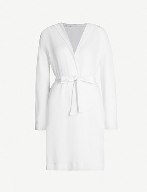 SKIN Avedon waffle cotton dressing gown