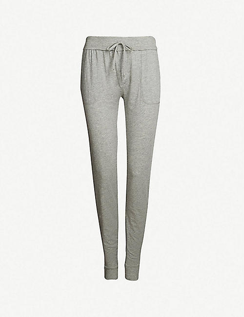 SKIN Skinny cotton-jersey pyjama bottoms