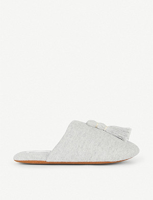 SKIN Vara cotton-blend slippers