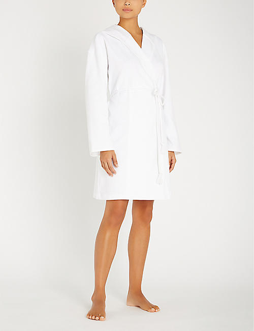 SKIN Charlotte cotton dressing gown