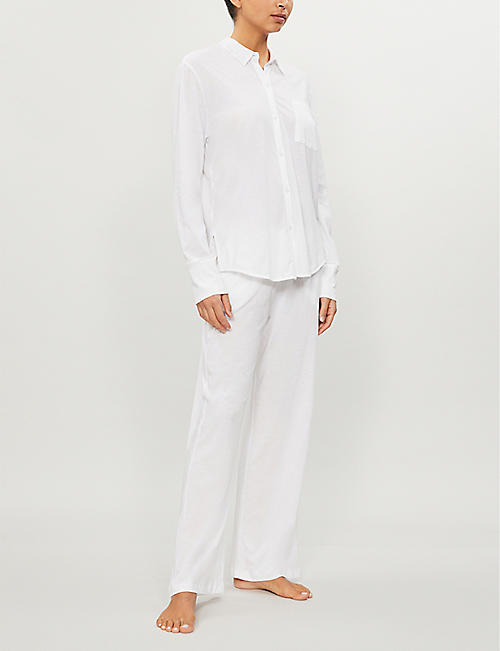 SKIN Krista cotton-jersey pyjama top