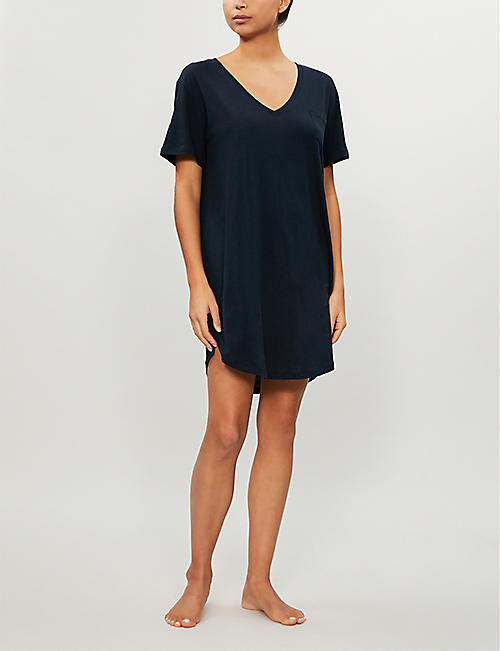 SKIN Keziah cotton-jersey night dress