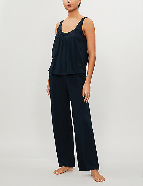 SKIN Kendall cotton-jersey top