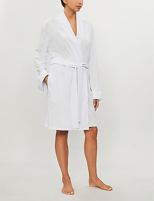 SKIN Kellyn cotton-jersey dressing gown