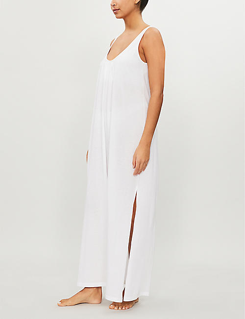 SKIN Kaia cotton-jersey night dress