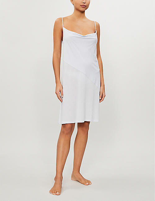 SKIN Kirsten cotton-jersey night dress