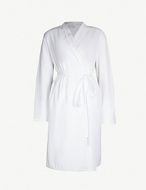 SKIN Organic-cotton-towelling dressing gown