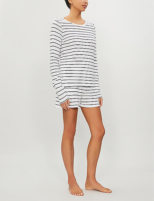 SKIN Addison cotton-jersey top
