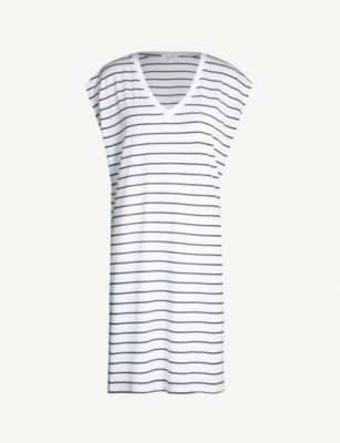 SKIN Afton cotton-jersey night dress