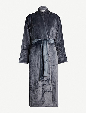 SKIN Whitney faux-fur dressing gown