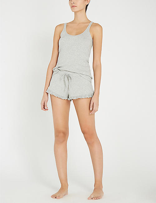 SKIN Raffaela cotton-jersey shorts