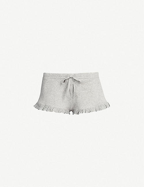 SKIN: Raffaela cotton-jersey shorts