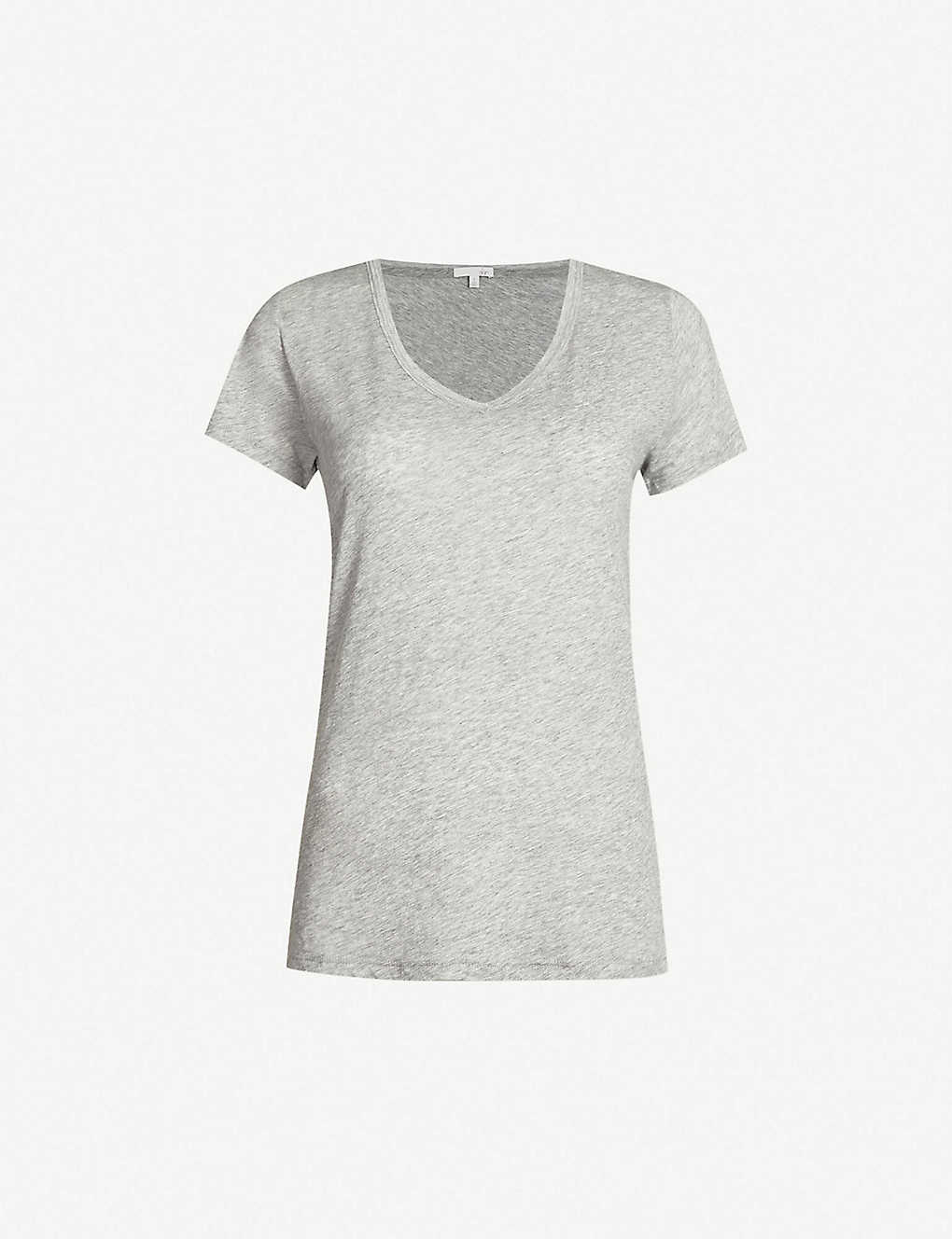 SKIN: Short-sleeved cotton-jersey T-shirt