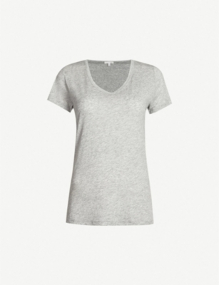SKIN Short-sleeved cotton-jersey T-shirt