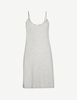 SKIN Sexy scoop-neck cotton-jersey slip dress