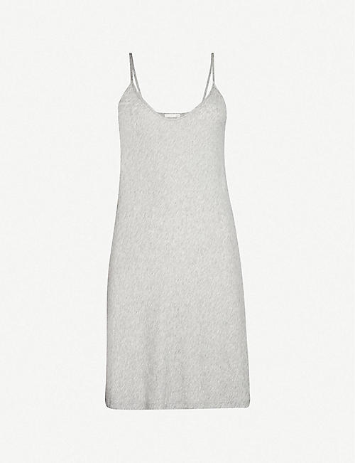 SKIN: Sexy scoop-neck cotton-jersey slip dress