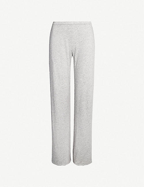 SKIN: Wide-leg pima-cotton jersey pyjama bottoms