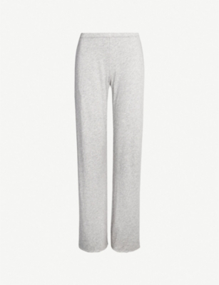 SKIN Wide-leg pima-cotton jersey pyjama bottoms