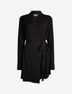 SKIN Wrap cotton dressing gown