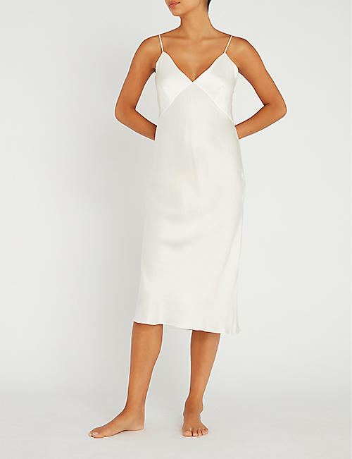 OLIVIA VON HALLE Issa silk slip dress