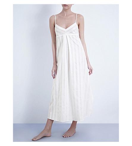 5c0455c189 ... BODAS Shadow Stripe cotton nightdress (White. PreviousNext