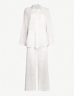bb70eb03459 POUR LES FEMMES - Floral-print cotton pyjama set
