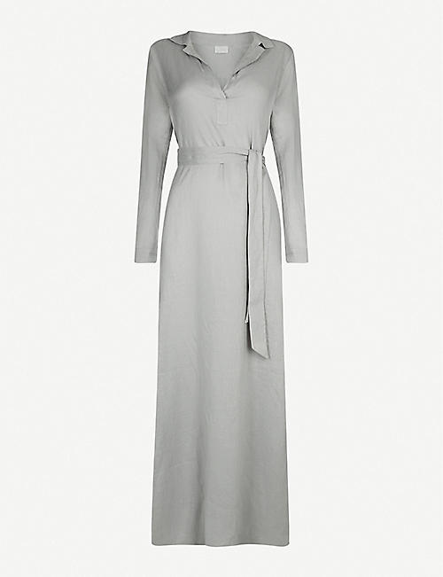 POUR LES FEMMES Belted linen night dress