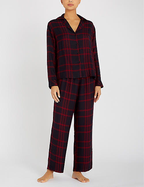 RAILS Checked jersey pyjama set